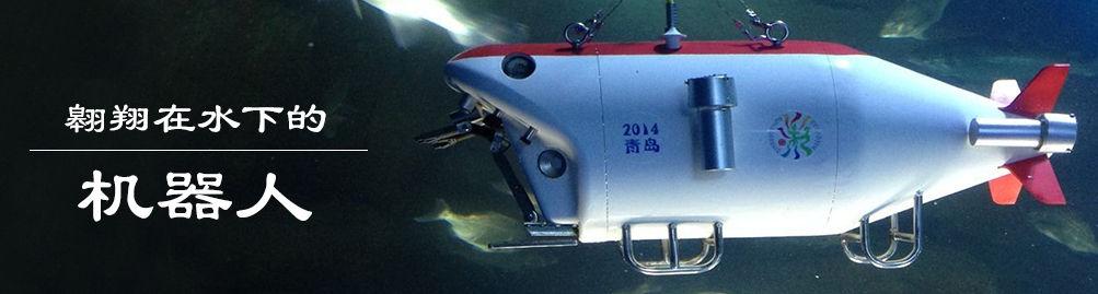 翱翔在水下的机器人