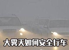 大雾天如何安全行车