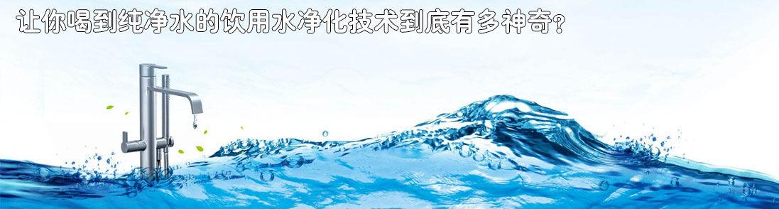 让你喝到纯净水的饮用水净化技术到底有多神奇?