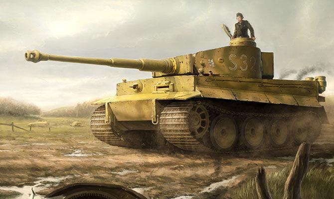 曾经称霸一时的虎式坦克也有宿敌