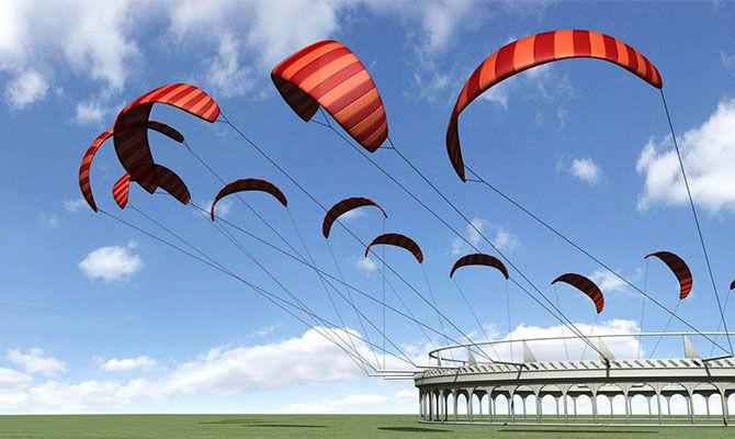 有趣的风筝发电