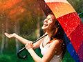 做一把不沾水的纳米雨伞
