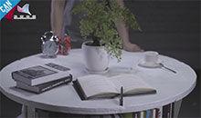 工匠实验室:移动式木盘书桌