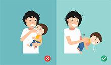 婴幼儿气道梗阻怎么办?(海姆立克急救法)
